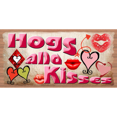 Country Wood Signs - GS 2964 -Hogs & Kisses