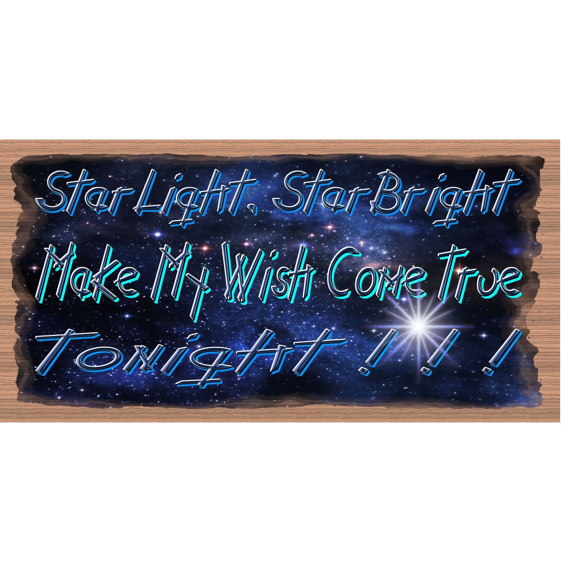 Friend Wood Signs -Star Light Star Bright - GS -2991
