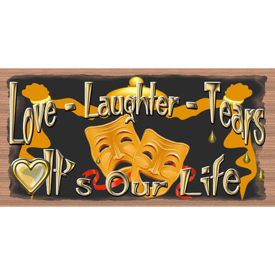 Love Wood Signs - Love - Laughter - Tears- GS 2994 Love Plaque