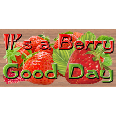 Strawberry Wood Signs -Strawberry Festival - GS 3048- Kitchen Plaque