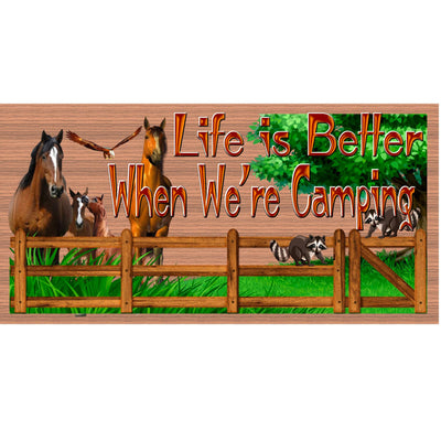 Camper Wood Sign -Horse Camper plaque-RV Wood Sign- GS 3078