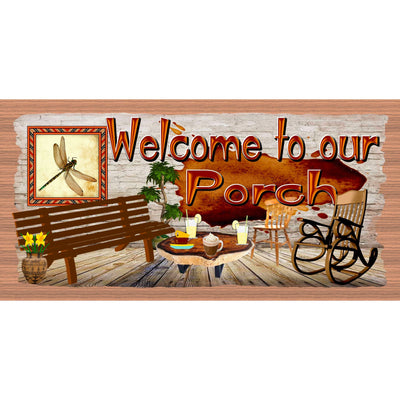 Porch Wood Signs -Welcome to Our Porch -GS 3097
