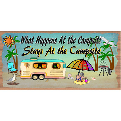 Camper Wood Sign - Camping plaque- RV Wood Sign- GS 3115