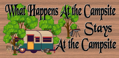 Camper Wood Sign - Camping plaque-RV Wood Sign- GS 3117