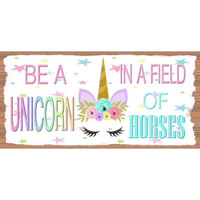 Unicorn Wood Signs -Be A Unicorn -GS 3121 - Unicorn Plaque