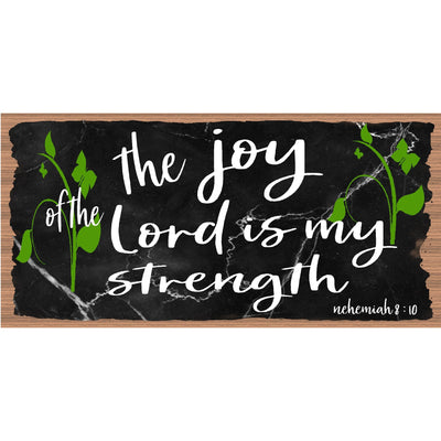 Spiritual Wood Signs -The Joy of the Lord -Nehemiah -GS -3144