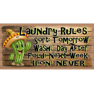 Western Laundry Wood Signs -Laundry Room Plaque -GS 3164 - Laundry Room Sign