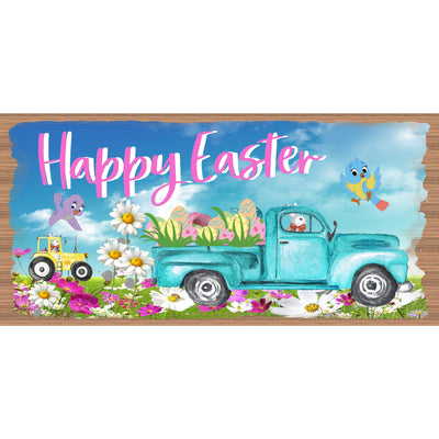 Easter Wood Signs -  Happy Easter - GS 3181 - Easter Plaque