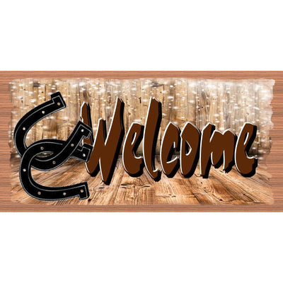 Western Welcome sign -  Country Plaque- GS 3212