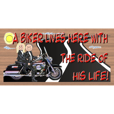 Motorcycle Wood Signs -GS 3239 - Motorcycle  Plaque