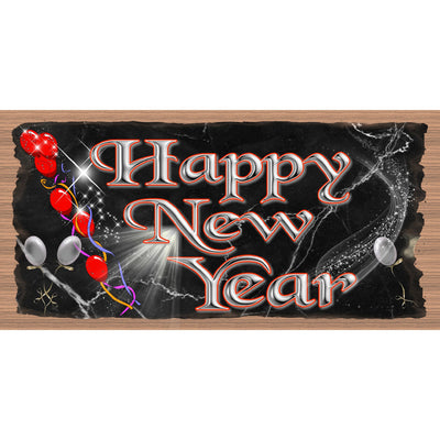 Happy New Year Wood Signs --GS 3240- New Year Plaque