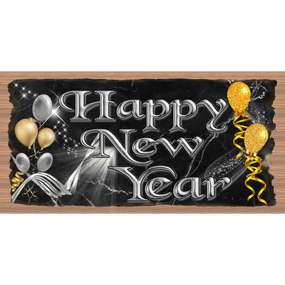 Happy New Year Wood Signs --GS 3241- New Year Plaque