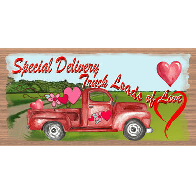 Valentine Wood Signs -Truck Loads Of Love - GS 3254 - Romantic Plaque