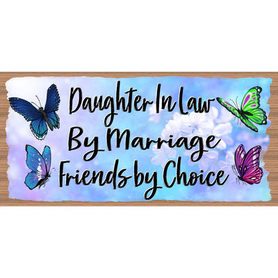Daughter In Law Wood Signs - GS 3316 -Daughter In Law Plaque