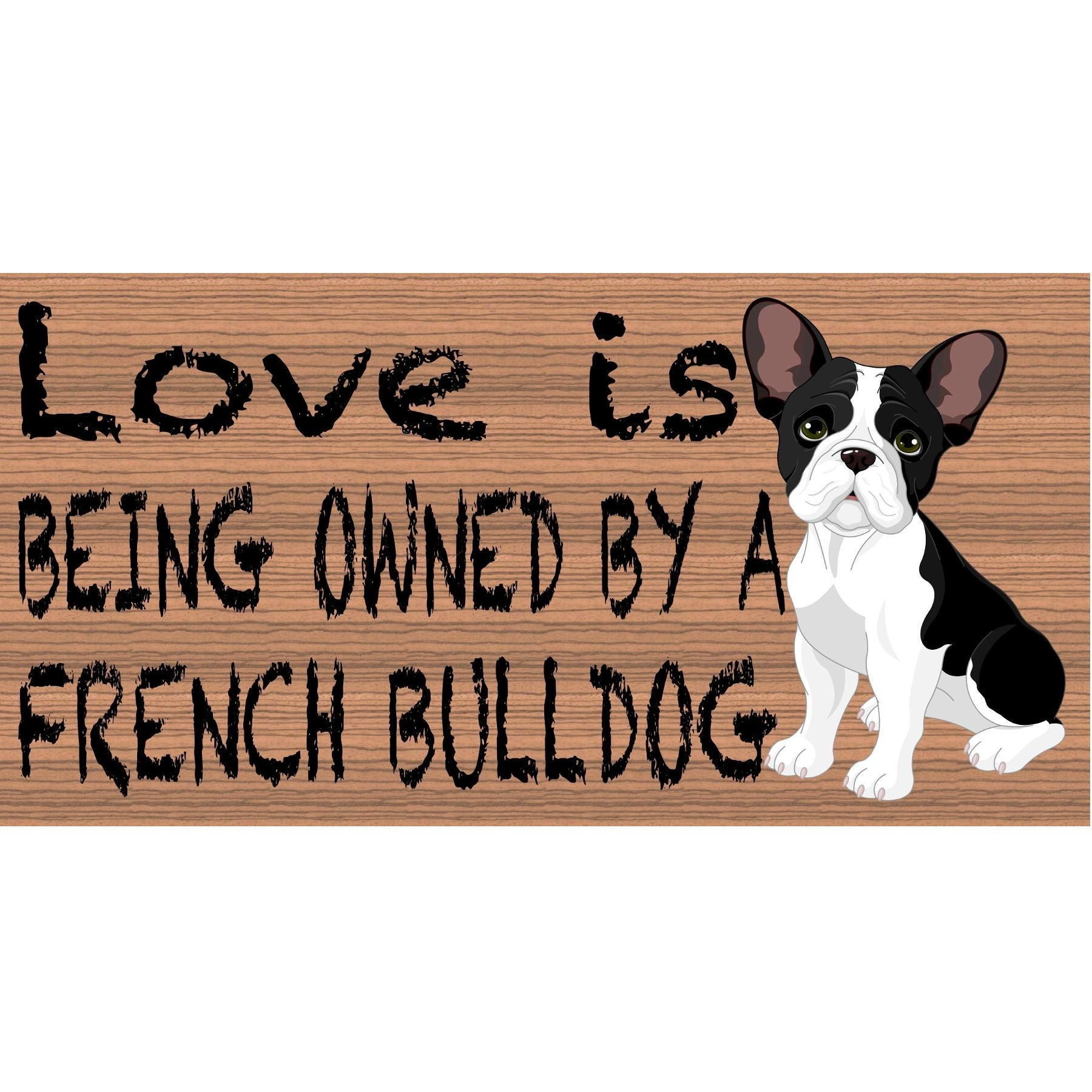 French Bulldog Wood Signs  GS 400 - French Bulldog Plaque