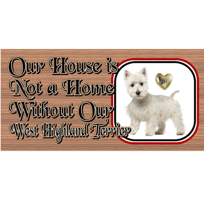 West Highland Terrier Wood Signs -Dog Plaque GS490- Dog Signs