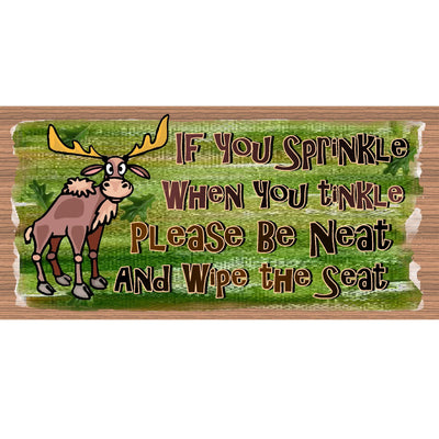Bathroom Wood Signs  Sprinkle when you Tinkle -GS-541
