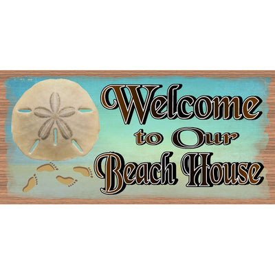 Beach Wood Signs -Welcome to Our Beach House -GS 642 -Tropical Sign - Beach Decor