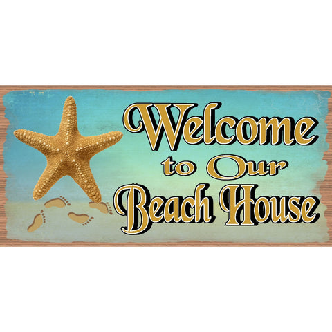 Beach Wood Signs -Welcome to Our Beach House GS 643 -Tropical Sign - Beach Decor