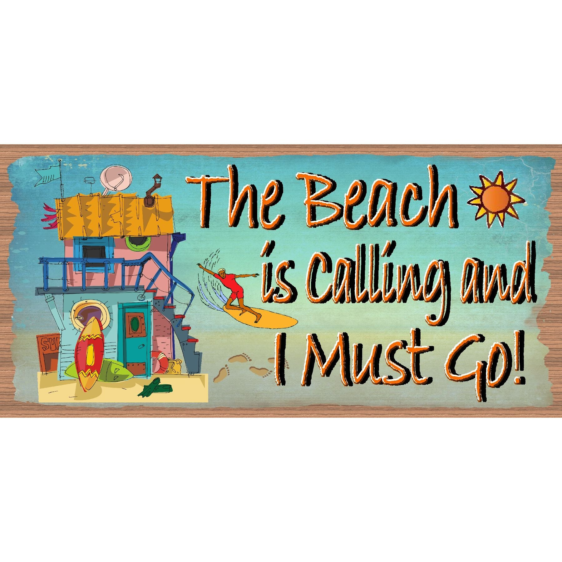 Beach Wood Signs -The Beach is Calling and I must Go GS 649 -Tropical Sign - Beach Decor