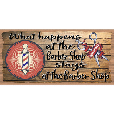 Barber Wood Signs  -Barber Plaque-GS 652X