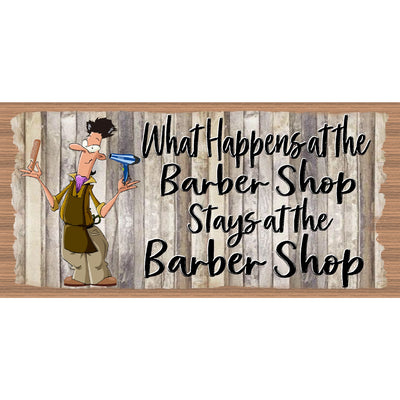 Barber Wood Signs  -Barber Plaque-GS 674X