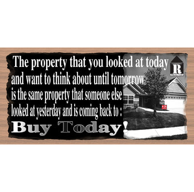 Real Estate Sign Wood Signs - GS 742 - Real Estate Plaque