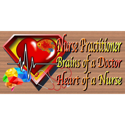 Nurse Practitioner Wood Signs - GS 082- Nurse Wood Sign - Nurse plaque