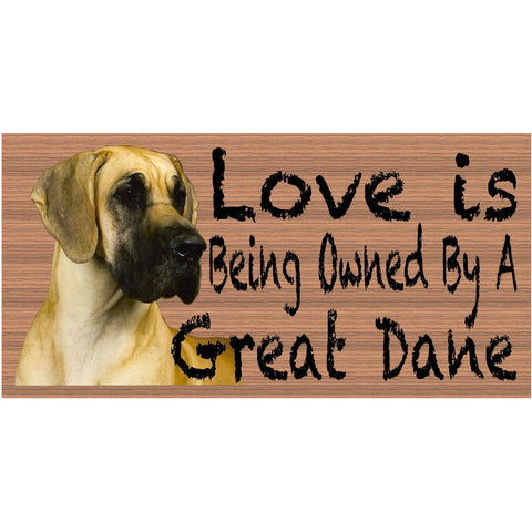 Great Dane Wood Signs -  Great Dane GS 083 -  Great Dane Plaque