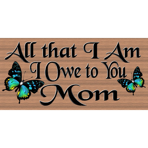 Mom Wood Signs - Mom Plaque - GS 925 - Mother's Day