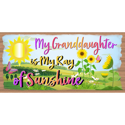 Granddaughter Wood Signs -A Grandaugter is a Gift from God- GS 938X