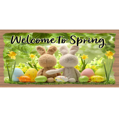 Spring Wood Signs GS 979- Welcome to Sprin- Easter