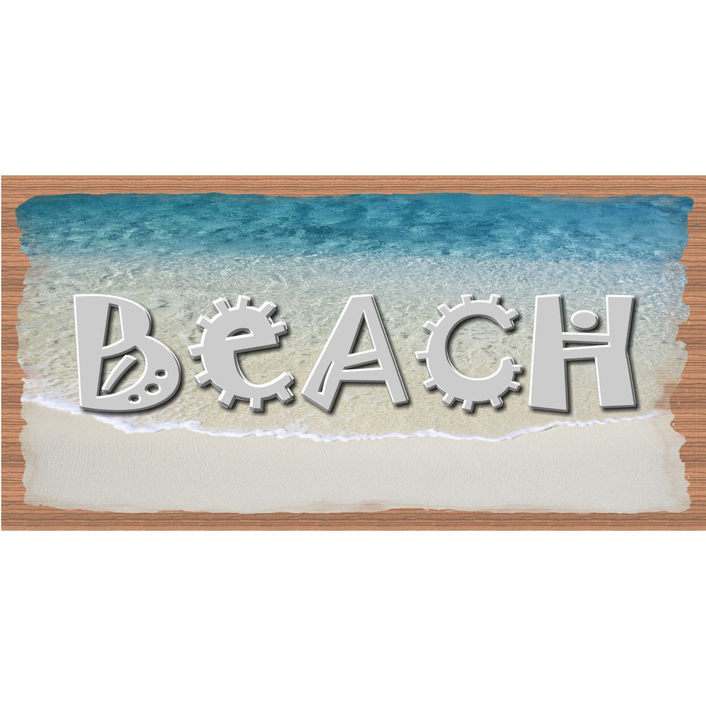 Beach Wood Signs - Beach plaque- GS 992 - Tropical Sign