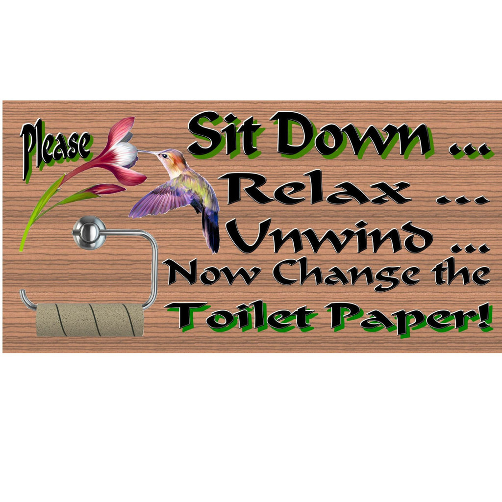 Bathroom Wood Signs - Bathroom Rules - Bathroom wood sign