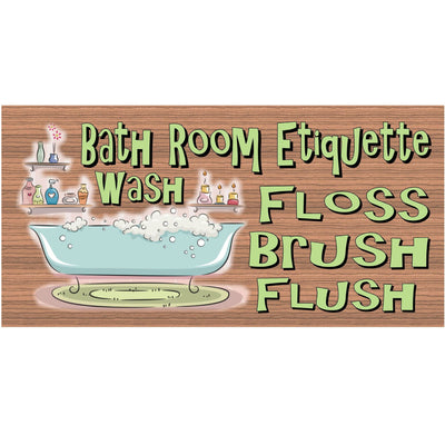 Bathroom Etiquette with Tub GS716