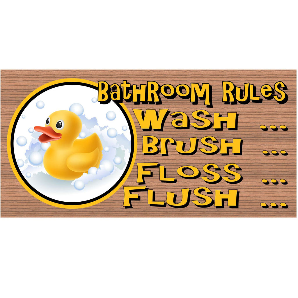 Bathroom Wood Signs - Bathroom Plaque Rubber Ducky- GS 701