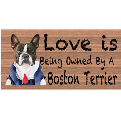 Boston Terrier Wood Signs - Boston Terrier GS 406 - Dog Sign
