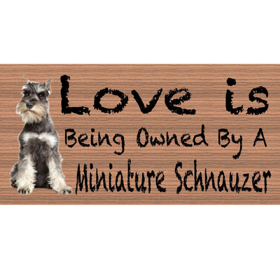 Miniature Schnauzer Wood Signs -Miniature Schnauzer GS 405 -Dog Signs
