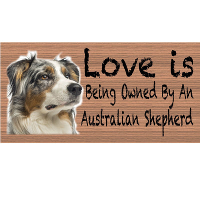 Australian Shepherd Wood Signs - GS 409- Australian Shepherd Plaque - Dog Sign