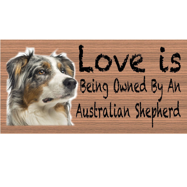 Wood Signs -Handmade Wood sign, Australian Shepherd GS409 Australian shepherd sign, Gigglesticks wood sign