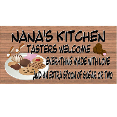 Nana Wood Sings -Nana's Kitchen Plaque with Cookes and Candy and Extra Sugar G S301