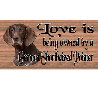 Pointer Wood Signs - German Shorthaired Pointer GS 413