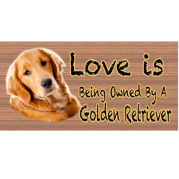 Wood Signs - Golden Retreiver GS414