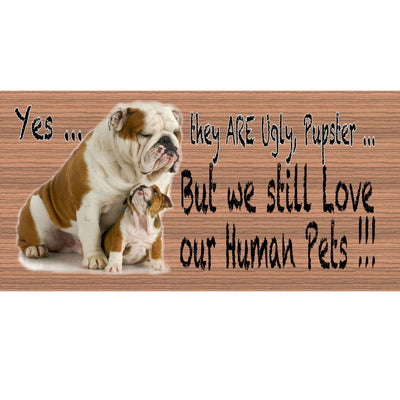 Bulldog Wood Signs - Bulldog Plaque - GS 419 - Dog Sign