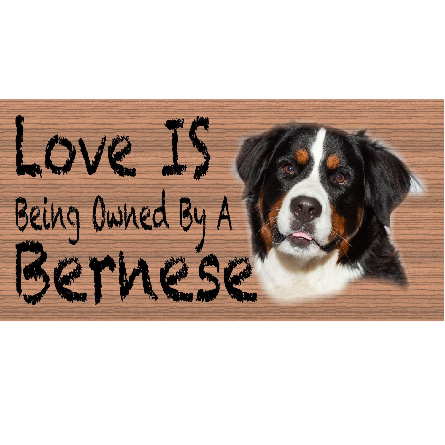 Bernese Dog Wood Signs - Bernese GS 428 - Dog Plaque