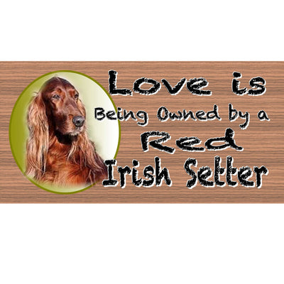 Irish Settler Wood Signs -Irish Settler GS447-Wood dog sign - Wood signs with Sayings