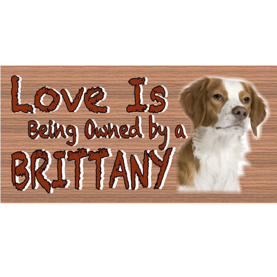 Brittany Wood Signs - Brittany GS 435 - Dog Sign