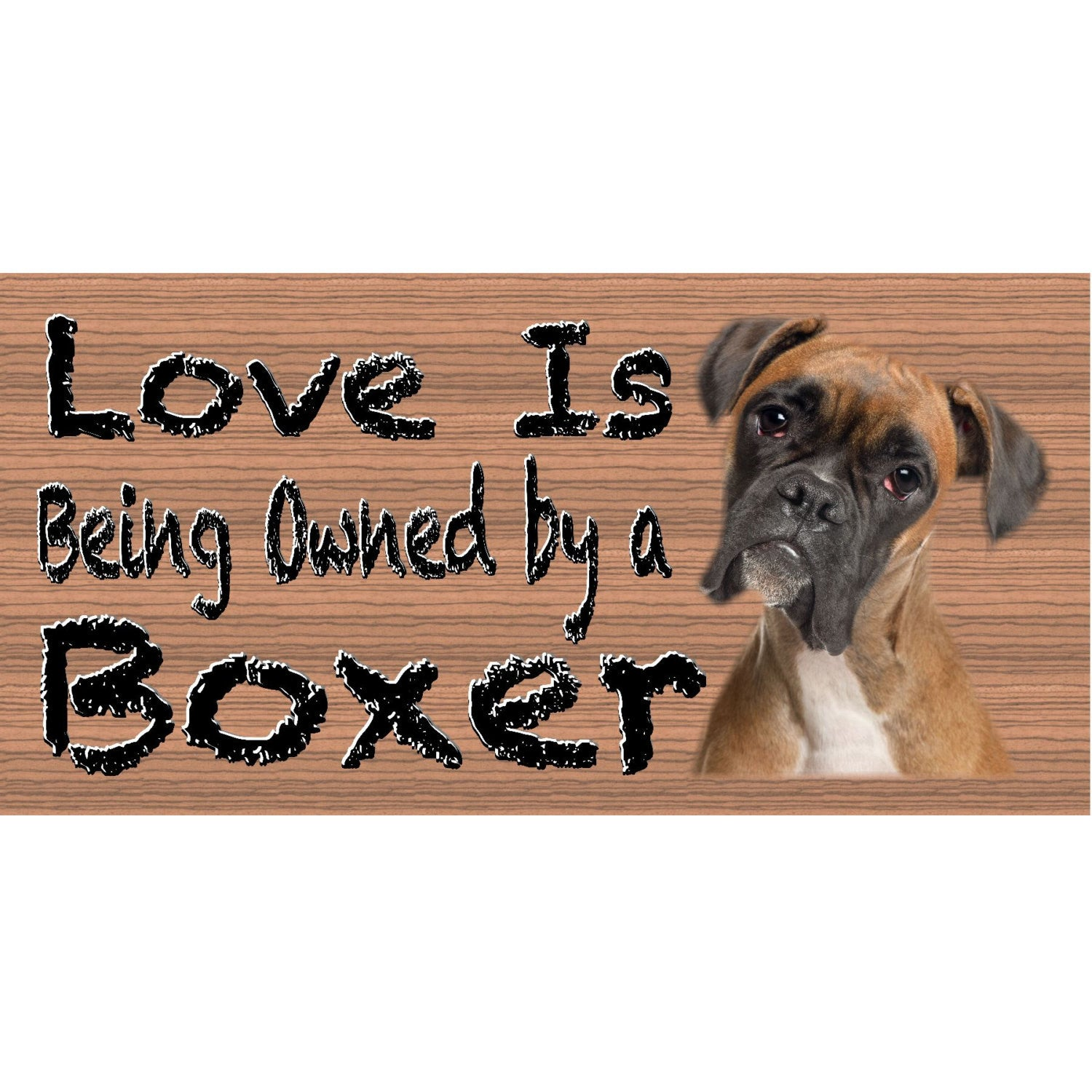 Boxer Wood Signs - Boxer GS 440 - Dog Sign