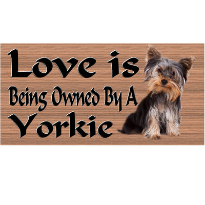Yorkie Wood Signs -GS 441- Yorkie Plaque - Dog Sign