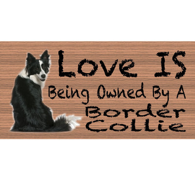 Border Collie Wood Signs - GS 429- Border Collie Plaque - Dog Sign